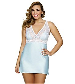 Jezebel® Plus Size Goddess Lace & Satin Chemise