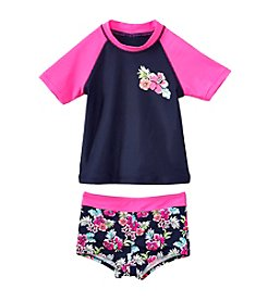 Oshkosh B'Gosh® Girls' 4-6X 2-Piece Floral Rash Guard Swim Set