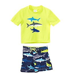 Carter's® Baby Boys' 2-Piece Shark Rashguard Swim Set