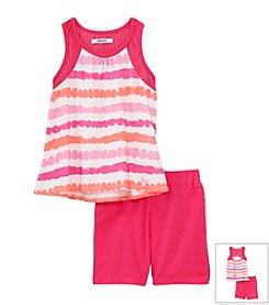 DKNY® Girls' 2T-6X Summer Love Shorts Set