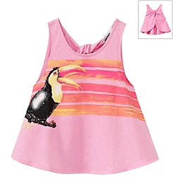 DKNY® Girls' 2T-6X Jungle Bird Top
