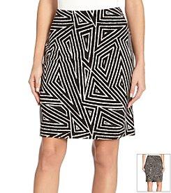 Karen Kane® Geo Print Pencil Skirt