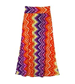 Amy Byer Girls' 7-16 Chevron Tiedye Maxi Skirt