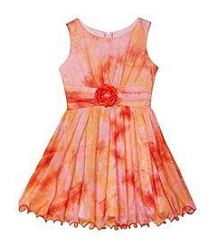 Amy Byer Girls' 7-16 Dye Dress With Ballerina Neckline