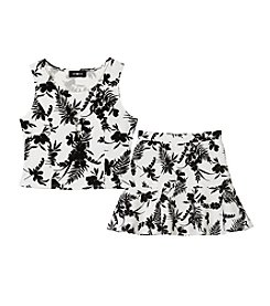 Amy Byer Girls' 7-16 Floral Skirt With Matching Popover