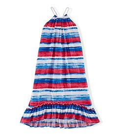 Chaps® Girls' 7-16 Watercolor Striped Dress