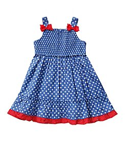 Sweet Heart Rose® Girls' 2T-4 Denim Star Dress