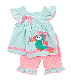 Rare Editions® Girls' 2T-4T Toucan Seersucker Set