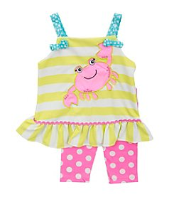Rare Editions® Girls' 2T-4T 2-Piece Crabby Set