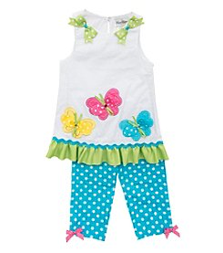 Rare Editions® Girls' 4-6X 2-Piece Butterfly Set