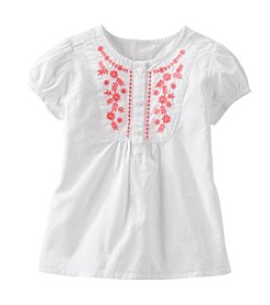 OshKosh B'Gosh® Girls' 2T-4T Embroidered Poplin Top