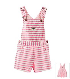 OshKosh B'Gosh® Girls' 2T-4T Striped Poplin Shortalls