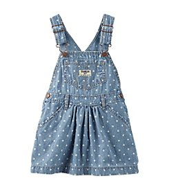 OshKosh B'Gosh® Girls' 2T-4T Polka Dot Chambray Jumperall