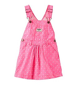 OshKosh B'Gosh® Girls' 2T-4T Polka Dot Poplin Jumperall