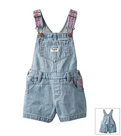 OshKosh B'Gosh® Girls' 2T-4T Embroidered Shortalls