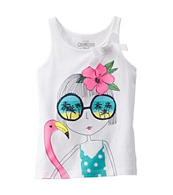 OshKosh B'Gosh® Girls' 4-6X Beach Girl Bow Tank