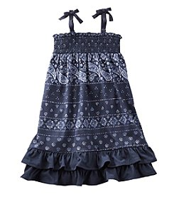 OshKosh B'Gosh® Girls' 2T-12 Smocked Bandana Jersey Dress