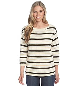 Jones New York Signature® Boat Neck Stripe Sweater