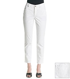 Jones New York Signature® Eyelet Cropped Pants