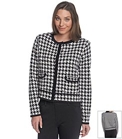 Jones New York Collection® Houndstooth Cardigan
