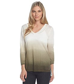 Jones New York Collection® Ombre Linen Sweater