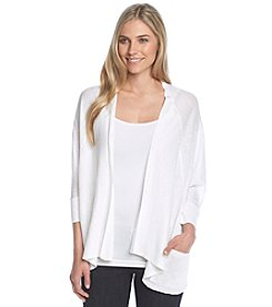 Jones New York Signature® Linen Open Cardigan