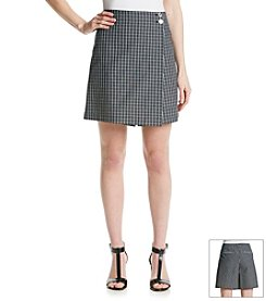 Jones New York Signature® Plaid Printed Skort
