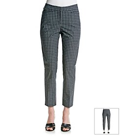 Jones New York Signature® Plaid Ankle Length Pants
