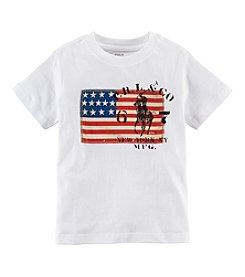 Ralph Lauren Childrenswear Boys' 2T-7 Short Sleeve Flag Tee