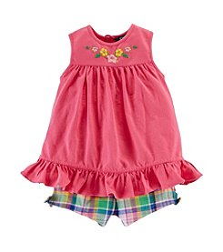 Chaps® Baby Girls' Plaid Shorts Set®