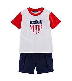 Chaps® Baby Boys' Twill Shorts Set