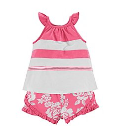 Chaps® Baby Girls' Floral Shorts Outfit Set