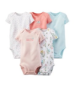 Carter's® Baby Girls' 5-Pack Short Sleeve Bodysuits