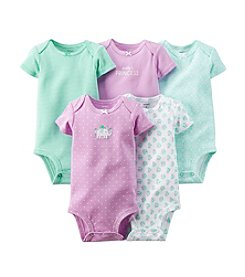 Carter's Baby Girls' 5-Pack Short Sleeve Bodysuits