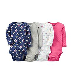 Carter's® Baby Girls' 4-Pack Long Sleeve Bodysuits