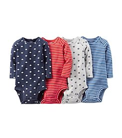 Carter's® Baby Boys' 4-Pack Long Sleeve Bodysuits