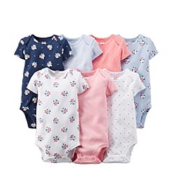 Carter's Baby Girls' 7-Pack Short Sleeve Bodysuits