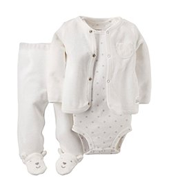 Carter's® Baby 3-Piece Terry Cardigan Set