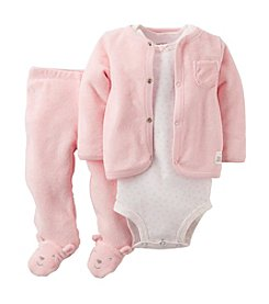 Carter's® Baby Girls' 3-Piece Terry Cardigan Set