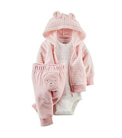Carter's® Baby Girls' 3-Piece Terry Cardigan Outfit Set