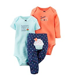Carter's® Baby Girls' 3-Piece Bodysuit & Pants Set