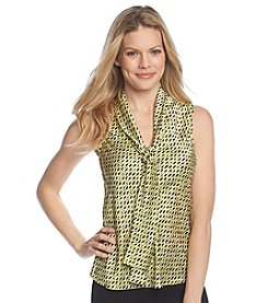 Nine West® Printed Bow Blouse