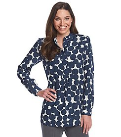 Anne Klein® Abstract Dots Tunic Blouse