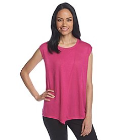 Anne Klein® Solid Asymmetric Top