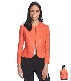 Anne Klein® Collarless Tweed Jacket