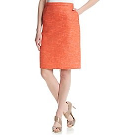 Anne Klein® Tweed Pocket Skirt