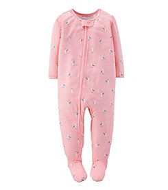 Carter's® Baby Girls' 1-Piece Bird Print Pjs
