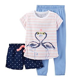 Carter's® Girls' 8-14 3-Piece Flamingo Set