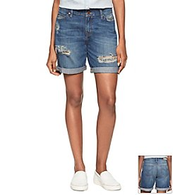 Calvin Klein Jeans® Destroyed Boyfriend Shorts