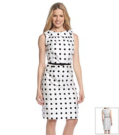 K. Studio® Roll Collar Dot Dress